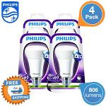 4 x Philips E27 LEDs